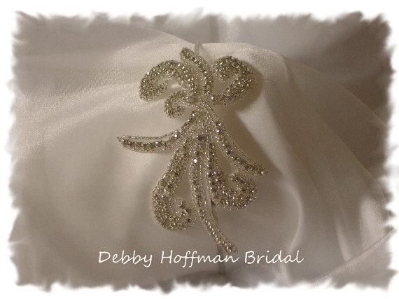 Mariage - Rhinestone Crystal Bridal Headband, Beaded Rhinestone Ribbon Headband, Jeweled Wedding Head Piece, No. 2051HB, Wedding Hair Accessories