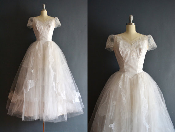 Свадьба - Farrah / 50s wedding dress / tulle wedding dress