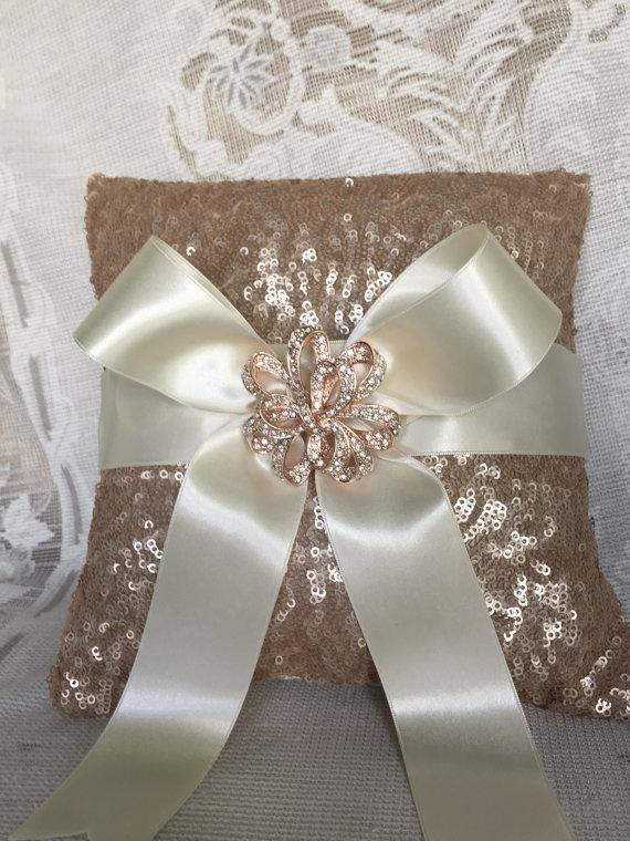 ... diy ideas pillow bearer ring pillow gold ring with bearer brooch rose ring wedding pillow accessory & RING BEARER PILLOW IDEAS DIY   ring bearer pillow pillowsntoast.com