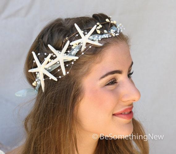 starfish crown beach wedding headpiece mermaid costume headband wedding headpiece halloween costume