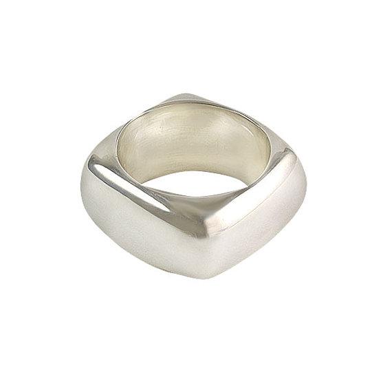 Свадьба - Square Ring 10mm, size 5 - 13