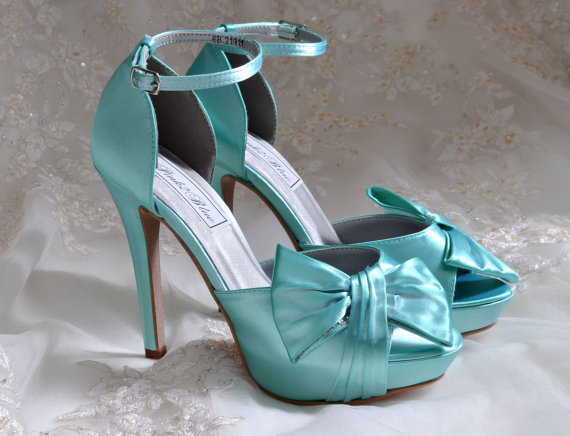 Wedding Shoes, Tiffany Blue Color Wedding Shoes, 4\