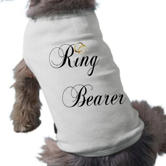 Свадьба - Ring Bearer Dog Shirt - Dog TShirt - Wedding Shirts - Bridal Party - Pet Wedding Shirts - Graphic Tee
