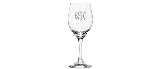 Mariage - Personalized Wine Glass, Monogrammed Wine Glass, Personalized Gift, Christmas Gift, Monogrammed Gifts, Bridesmaid Gift, Monogram Wine Glass