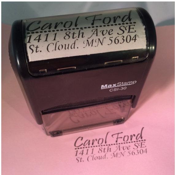 Mariage - Self-Inking Custom Stamp, Return Address, Wedding Invite Stamp, Engagement, Personalized Stamp