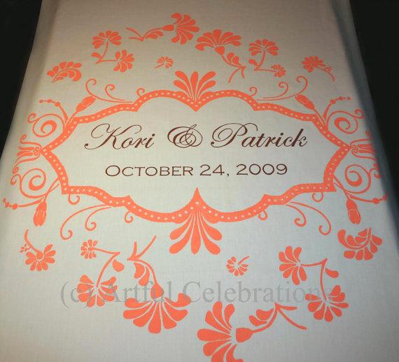 Hochzeit - Custom Wedding Aisle Runner Hand Painted, DEPOSIT for any length and design
