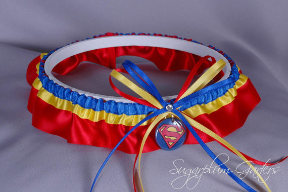 Wedding - Superman Wedding Garter