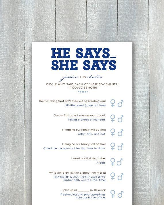 زفاف - He Says She Says Game PDF