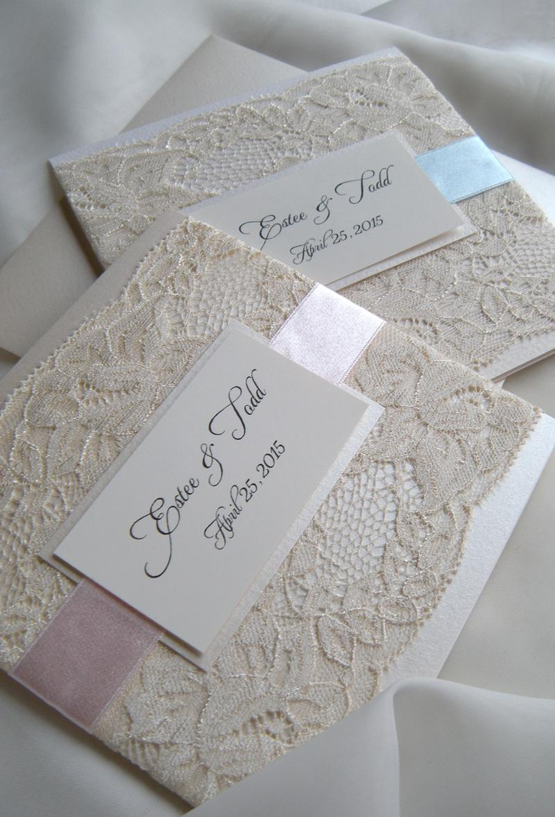 Wedding - Lace Wedding Invitations