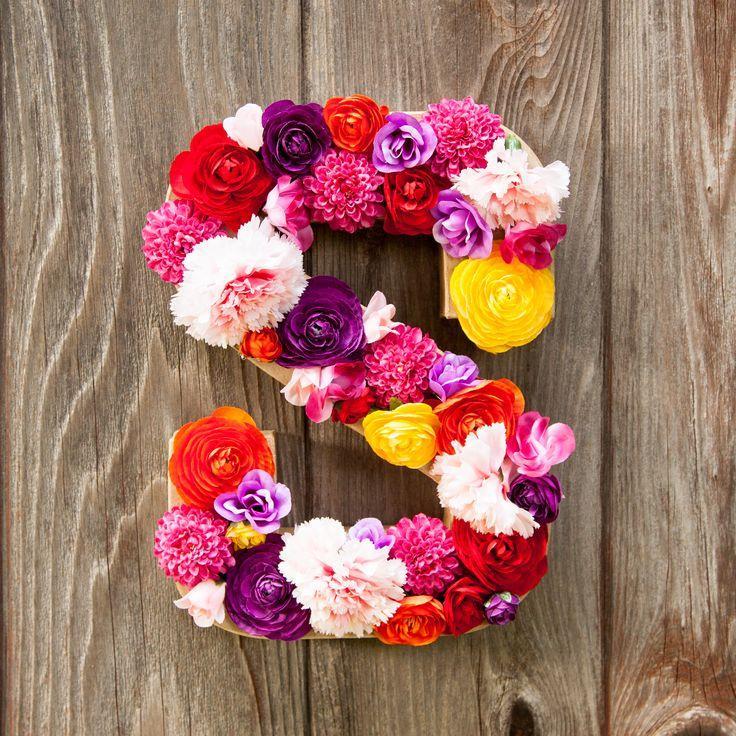 زفاف - DIY Flower Letter