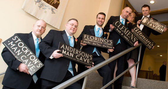 Wedding Party Gift Ideas For Groomsmen Canada : ... Gifts Gift for Groomsman, Custom Bar Sign, Wedding Party Gift, Bridal