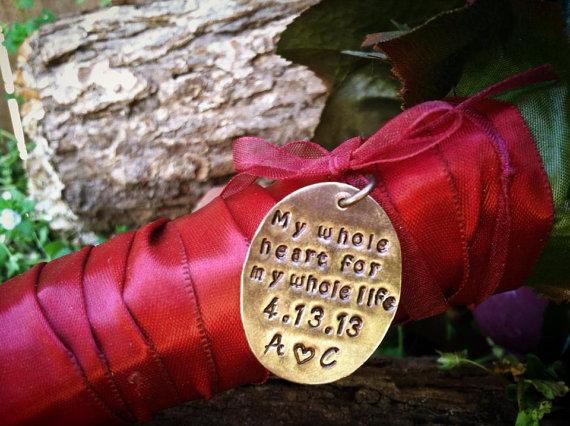 Mariage - Wedding Bouquet Charm Tag Bride Bridesmaid Wedding