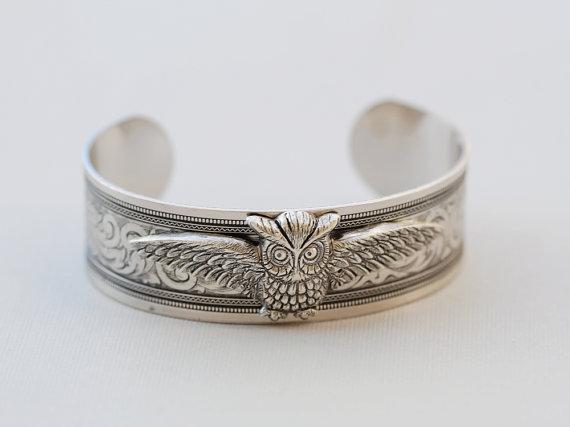 Mariage - Owl Bracelet,jewelry,best friend Bracelet,Bride,Wedding.Valentine's Day,For Her,Mother's Day