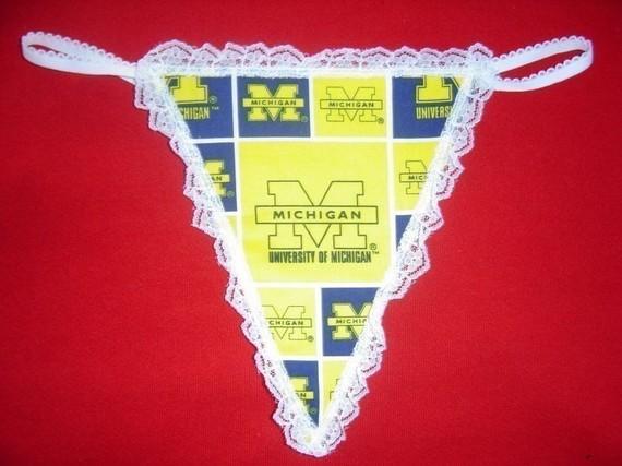Свадьба - Womens UNIVERSITY OF MICHIGAN G-String Thong Lingerie Panty Underwear