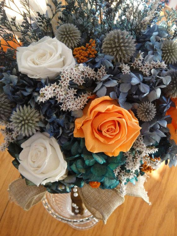 Bridal Bouquet Preserved Bouquet Dried Bridal Bouquet With Preserved ...