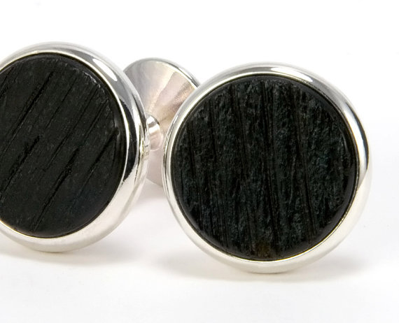 Свадьба - Tennessee Whiskey Silver Cufflinks - Wood Cuff Links -Perfect Gift Idea for Father's Day, Groomsmen, Anniversary, Graduation, Wedding