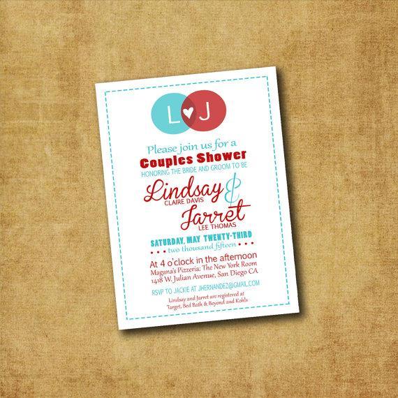 Wedding - Printable Couples Shower Invitation - Couples Shower,  Engagement Party, Wedding Invitations, Wedding Shower