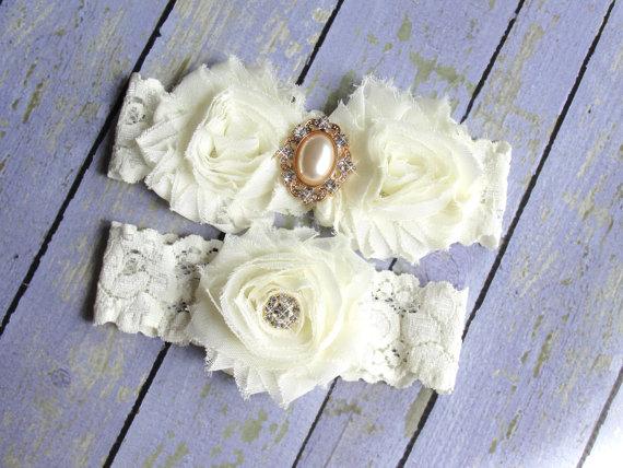 Hochzeit - SALE 100+ Colors, Ivory Wedding Garter, Garter Wedding, Pearl Garters, Victorian Wedding, Gold Wedding, Custom Garter, Garter Belt