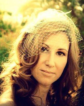 Mariage - Woodland Wedding Veil, Bridal Birdcage Veil, Ivory Veil, White Wedding Net, VANITA