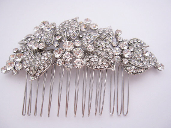 Свадьба - Wedding hair comb, bridal hair accessories, wedding rhinestone hair comb, bridal hair comb crystal ,wedding headpieces,wedding comb,bridal