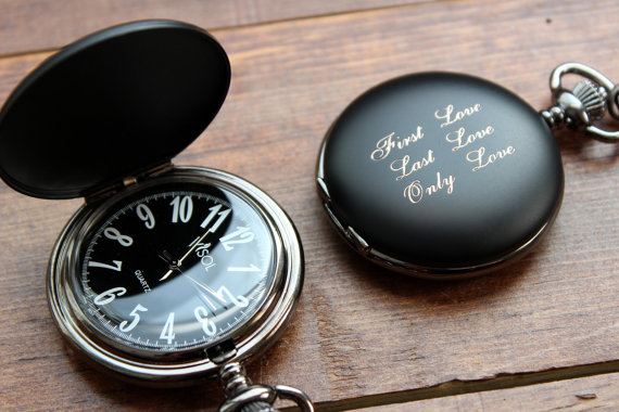 Watch As Wedding Gift: Black Matte, Black And White