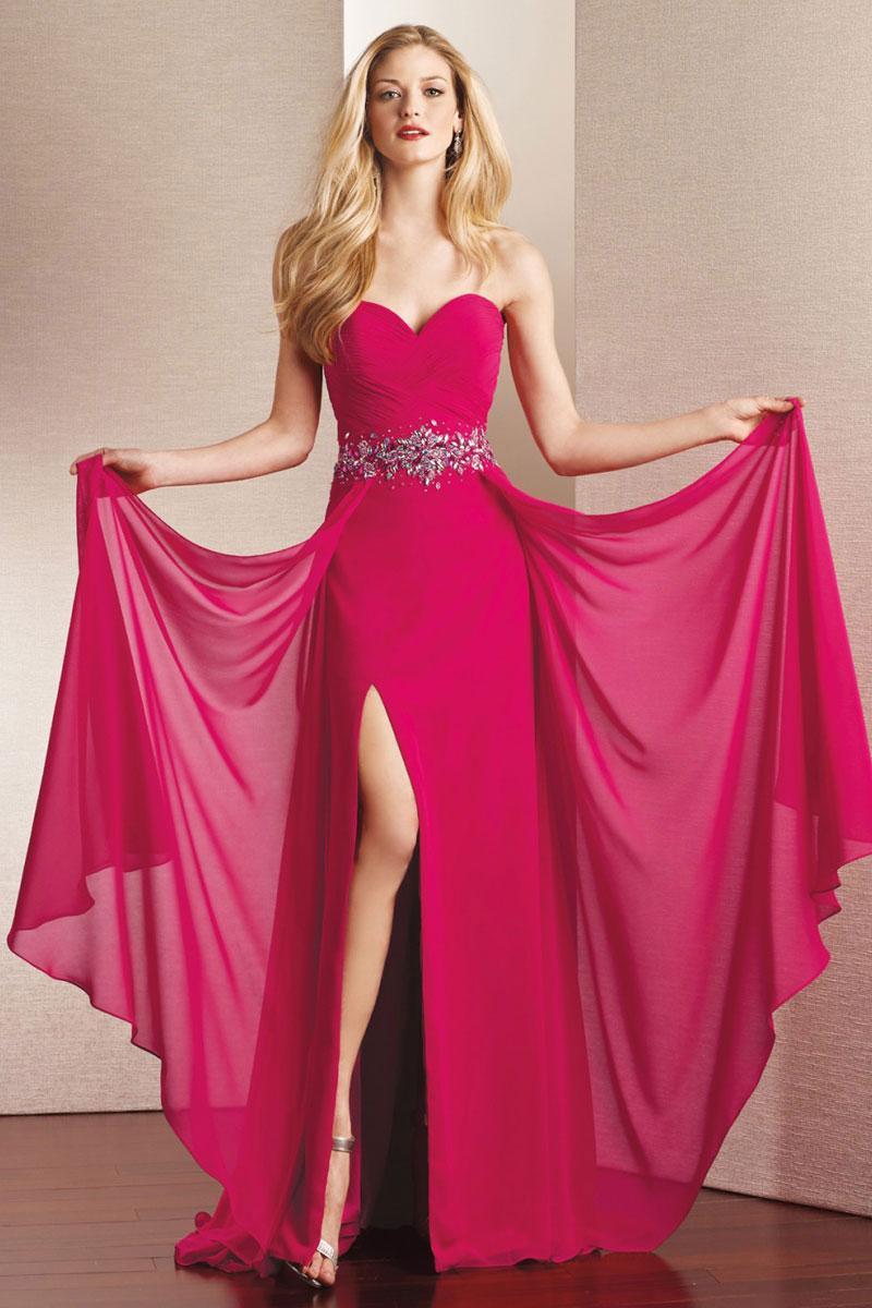 Wedding - chiffon zipper sweetheart beading,split a-line prom dress - Cheap-dressuk.co.uk