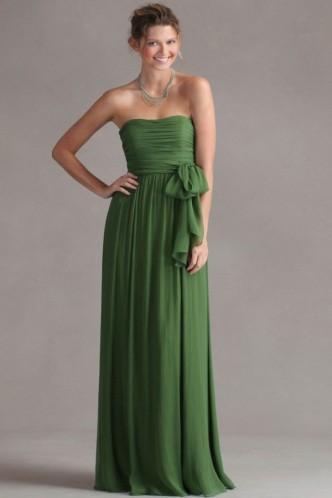 Свадьба - Luxurious Natural Sash Bridesmaid Dress