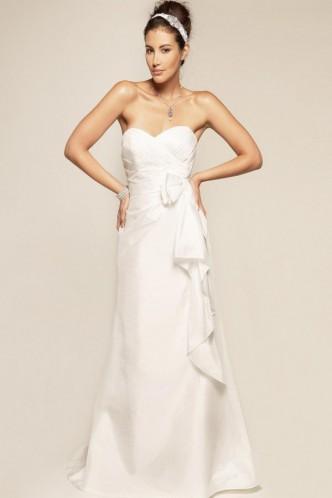 Свадьба - Powerful Zipper Sheath/Column Bow Taffeta Bridal Wedding Dress