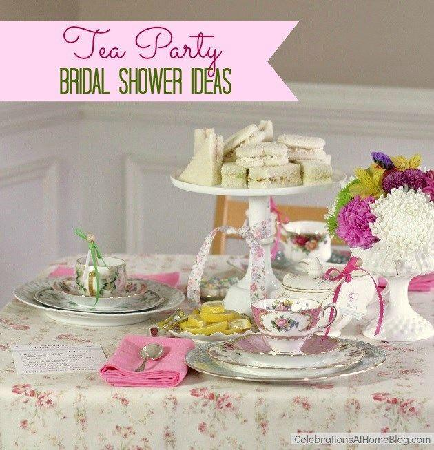 tea party bridal shower ideas