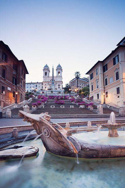 Wedding - The Spanish Steps, Rome (by Matteocolombo.com)