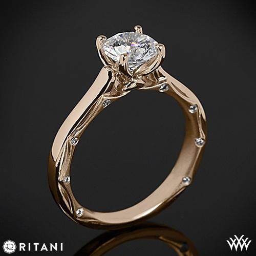 Mariage - 18k Rose Gold Ritani 1RZ2845 Modern Solitaire Engagement Ring