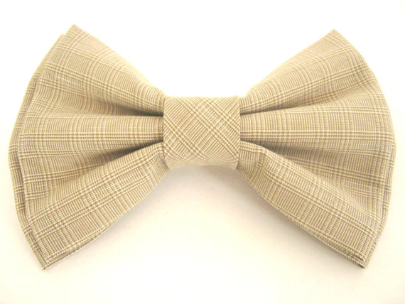 Свадьба - Bow tie for dog Beige dog bowtie Large dog bow tie Pet bow tie Dog collar bow tie Wedding dog bowtie