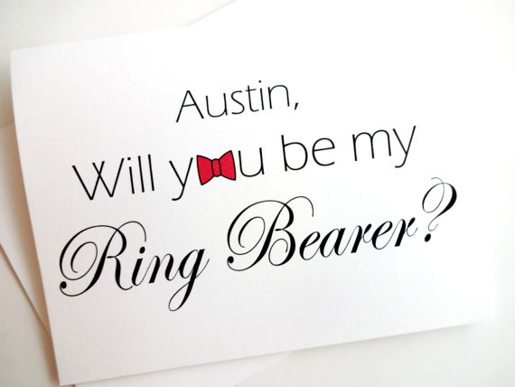 Mariage - Ring Bearer Card - Personalized - Will you be my Ring Bearer?