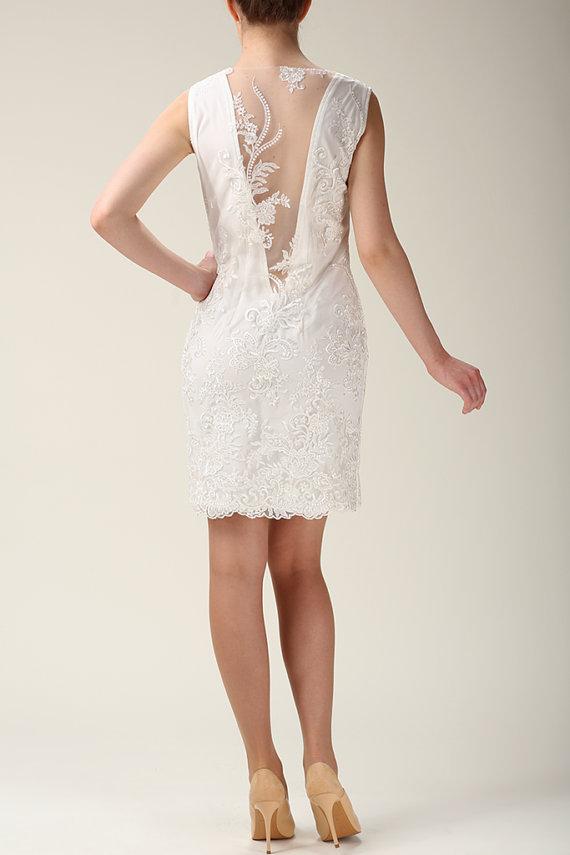 Elegant Lace Dress, Wedding Lace Dress, Lace Mini Dress, Wedding ...