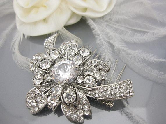 Hochzeit - Wedding hair comb bridal hair comb wedding headpiece wedding haircomb wedding hair accessory wedding jewelry bridal accessory wedding comb