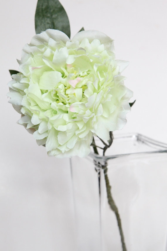 Silk flower on stem light lime green peony on stem 17 inches silk flower on stem light lime green peony on stem 17 inches artificial flower floral arrangement and bouquet supply mightylinksfo