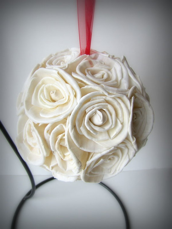 Flower Girl Pomander - Flower Girl Kissing Ball - Pomander - Kissing ...