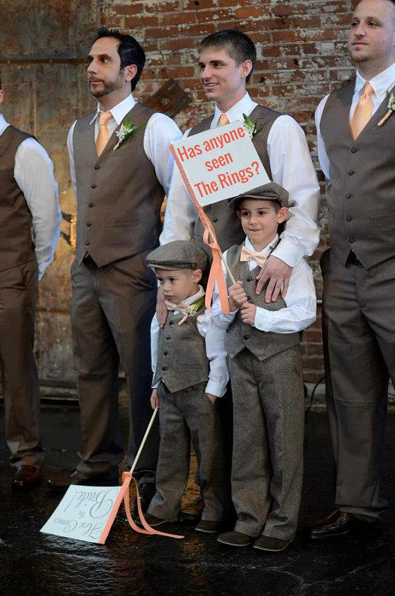 Mariage - Has Anyone Seen The Rings? Wedding Sign Ring Bearer