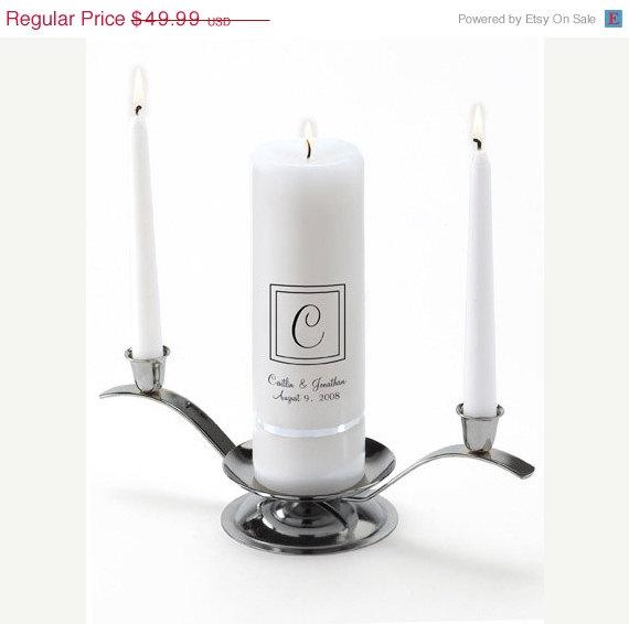 Hochzeit - Monogram Wedding Candle - Elegant_330