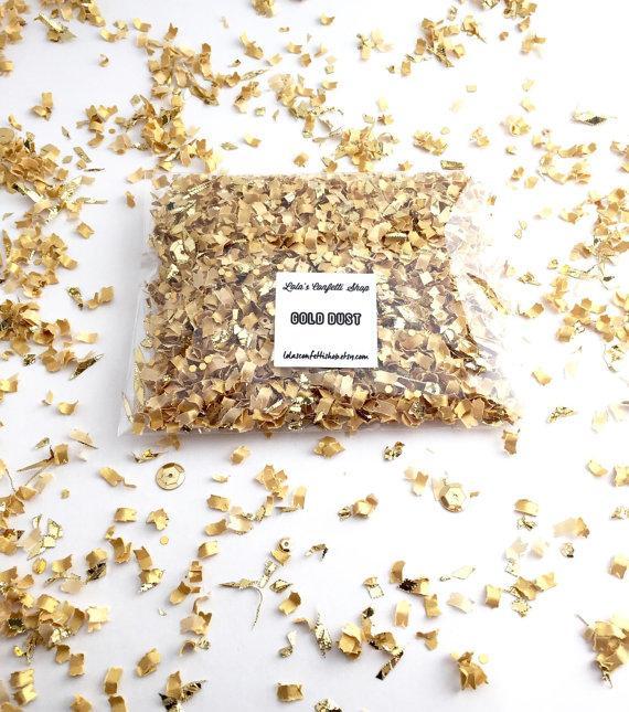 Mariage - Gold confetti Wedding confetti Party decor Gold Dust