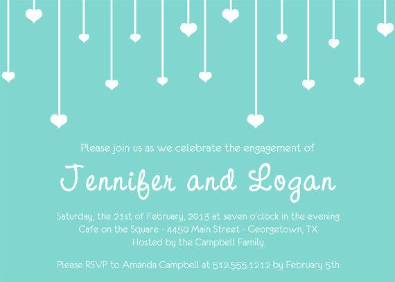 زفاف - Raining Hearts Engagement Invitation