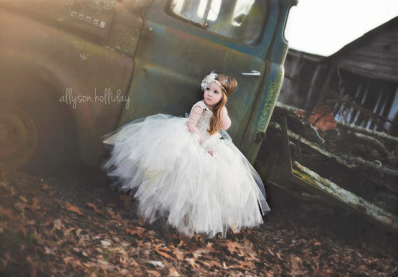 Wedding - gold flower girl tutu dress, gold sequin flower girl dress, Gatsby wedding tutu dress