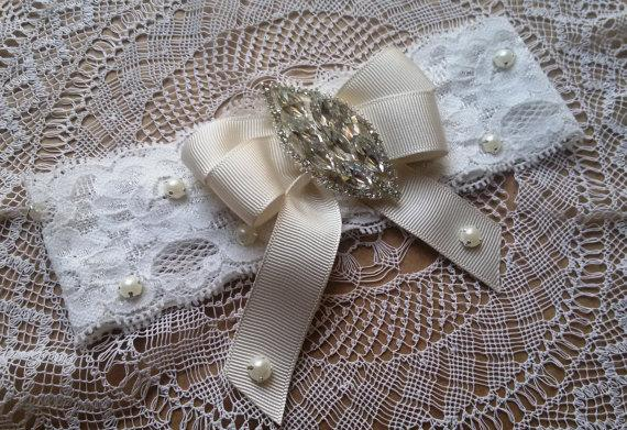 Wedding - Wedding leg garter, Wedding Garter Set, Ivory Lace Garter Set, Bridal Garter Accessory, Wedding Accessory, Bridal Accesso