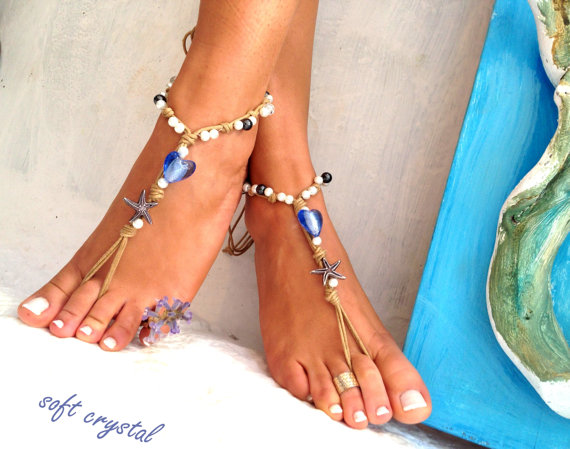 Свадьба - Barefoot sandals. wedding sandals.  boho barefoot sandals, barefoot sandles, crochet barefoot sandals, , yoga, anklet  hippie shoes