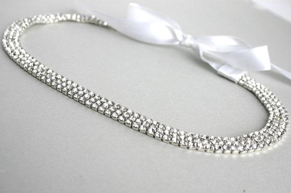 زفاف - Wedding Rhinestone Headband, Crystal Headpiece, Bridal Tiara, Diamond Headband, Rhinestone Headpiece, Bridal Veil