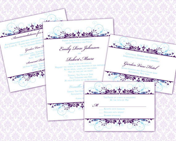diy wedding invitation template set 5x7 invitation enclosure cards 2268115 weddbook. Black Bedroom Furniture Sets. Home Design Ideas