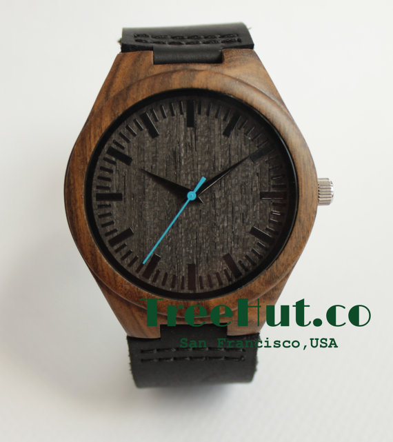 1171a692f9f85 Personalized Minimalist Engraved Wooden Watch With Genuine Leather ...