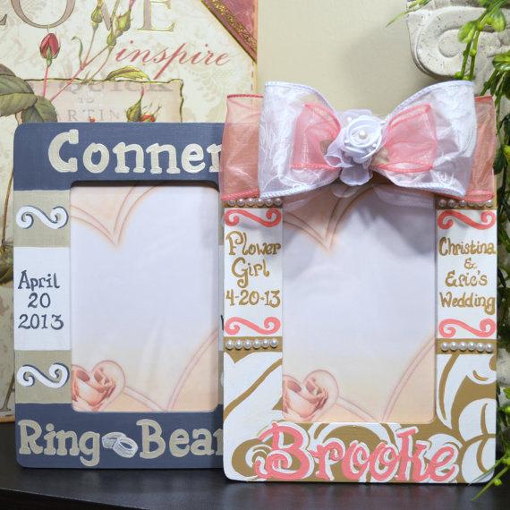 Mariage - Flower Girl Frame, Ring Bearer Frame Set
