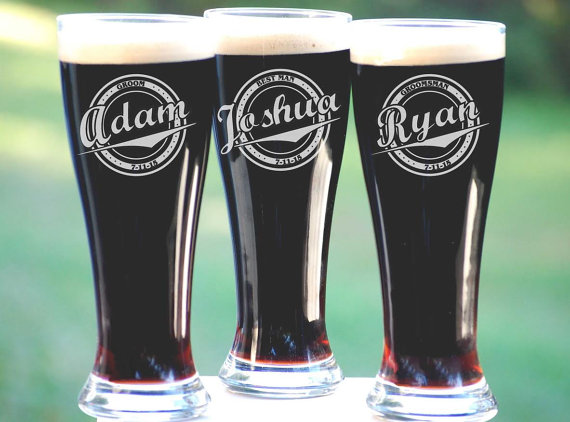 Groomsmen Gift 10 Personalized Beer Gles Custom Engraved Pilsner Gl Wedding Party Gifts For 16oz