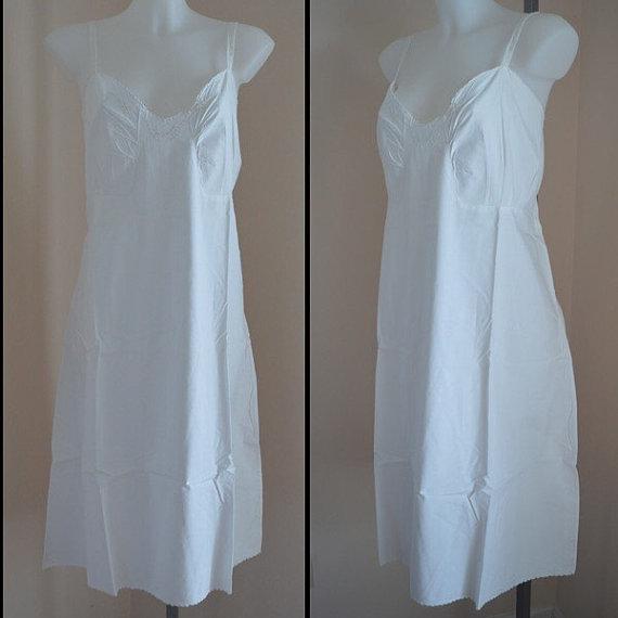 Free Shipping Vintage 1940s White Cotton Nightgown, Cotton Nightgown ...